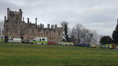 Edinburgh: Paramedics tried to save the man. Muirhouse Mansion