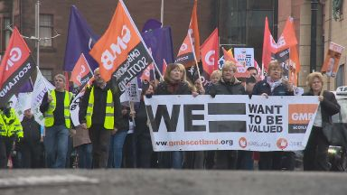 Dundee march unions