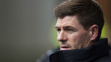 Frustration: Gerrard watched his side fail to break down St Johnstone.