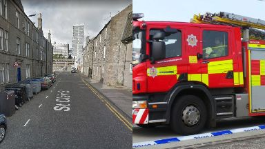 Fire: Three people were taken to hospital. St Clair Street Aberdeen