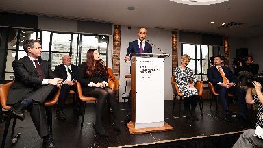 LONDON, ENGLAND - FEBRUARY 18: Labour MP Chuka Umunna announces his resignation from the Labour Party at a press conference on February 18, 2019 in London, England. Chuka Umunna MP along with Chris Leslie, Luciana Berger, Gavin Shuker, Angela Smith, Anne Coffey and Mike Gapes have announced they have resigned from the Labour Party and will sit in the House of Commons as The Independent Group of Members of Parliament.