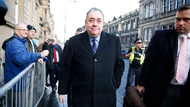 Salmond: At court in January.