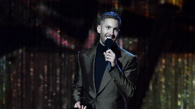 Calvin Harris collects his first Brit award, February 2019