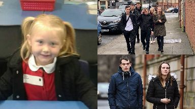 Alesha MacPhail: The family arrived at court.