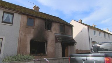 Lossiemouth: Three people were injured in the fire. Macdonald Drive