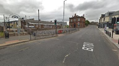 Saltcoats: The man was left unconscious. Saltcoats Railway Station