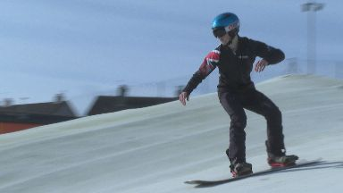 Snowboard Cross racer Douglas Green from Stonehaven