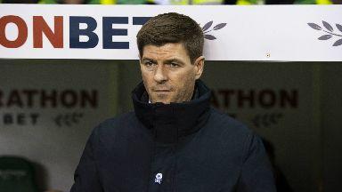 Wasteful: Gerrard rued Rangers' missed opportunities in Hibs draw.