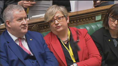 Ian Blackford and Joanna Cherry SNP MPs on March 12 2019 ahead of second Brexit meaningful vote.