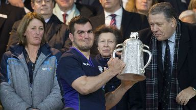 Draw: Stuart McInally lifts the Calcutta Cup as Scotland retained the trophy