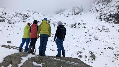 Ben Nevis avalanche family visit March 2019