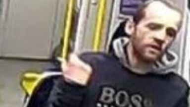 CCTV: The incident happened on a Glasgow train.