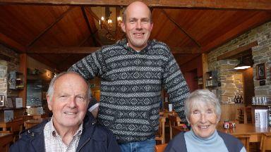 Magnus Spence, mum Sheila and dad Albert