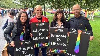 SNP MPs supporting the TIE campaign at Glasgow Pride 2016