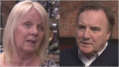 Mary Kavanagh and Alan Crossan, survivors of the 2013 Clutha crash in Glasgow