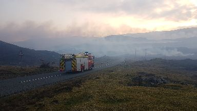 Wildfire on Harris near Loch Direcleit, April 2019