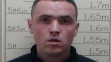 Sean Bonar, absconder from Castle Huntly. Police collect pic