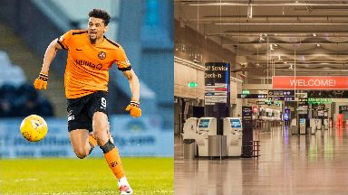 Osman Sow: The Dundee United striker was stopped by police. Stockholm Sweden