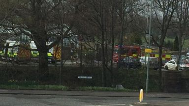 Saughton Park: Emergency services have been called. Balgreen Road  Edinburgh