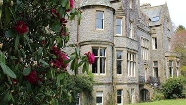 Castle: The property was valued at up to £2.5 million. Orchardton Castle
