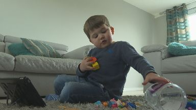 Struan Ross, four year old from Glenrothes Fife with severe autism