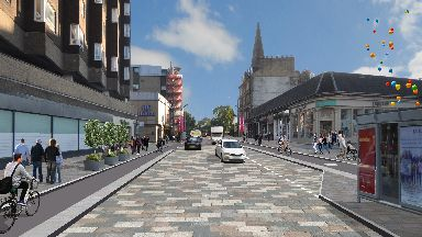 Byres Road public realm project artist's impression