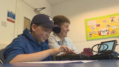 Visually impaired pupils
