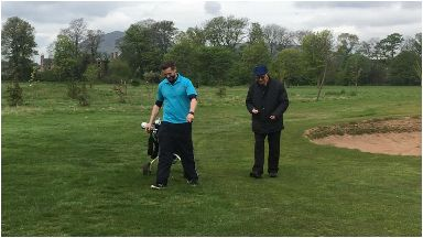 Tony Norton who has dementia now plays golf with Movement for Memories scheme in Edinburgh