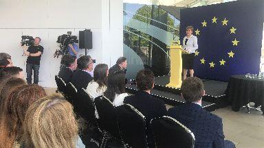 Nicola Sturgeon launching SNP European election campaign May 9 2019.