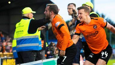 Victory: Dundee United secured a 1-0 win.