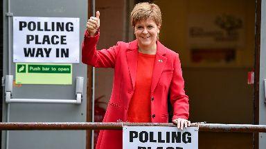 Nicola Sturgeon: SNP likely to win three of the six MEP seats.