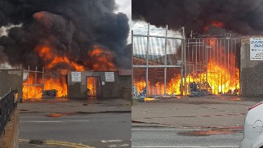 Fire: The blaze happened at the home of Bo'ness United.