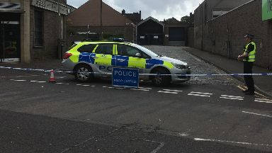 Dundee: Police have cordoned off the road. McGill Street