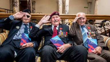 Scots D-Day veterans honoured with Knight of the Légion d'Honneur Cross