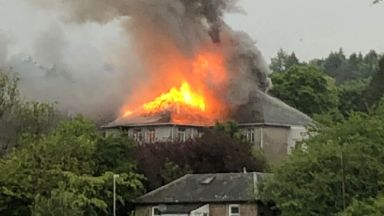 Strathmartine Hospital: Smoke could be seen for miles. Fire