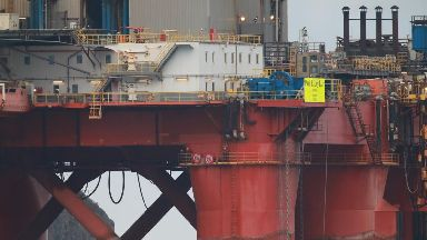 Protest: Activists are campaigning. Greenpeace BP Oil Rig Inverness