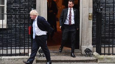 Boris Johnson Jeremy Hunt.