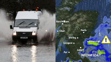 Flooding: A weather warning has been issued. Rain Met Office