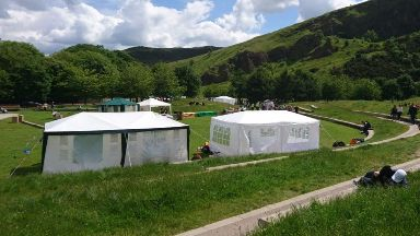 Holyrood: Extinction Rebellion Scotland have set up a camp in protest.