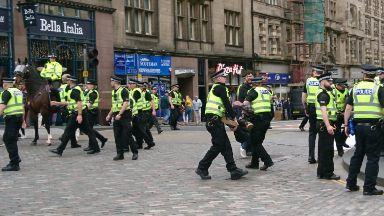 Protest: Six people have been arrested. Extinction Rebellion Scotland Edinburgh Climate protest