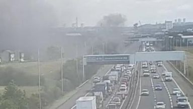 Fire: Major delays are being caused.