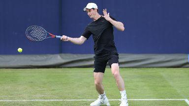 Andy Murray practice Queen's June 2019