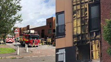 Fire: Six people have been injured. Blaze Govan Garmouth Street Elderpark