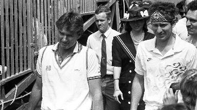 John McEnroe and Jimmy Connors Edinburgh 1989