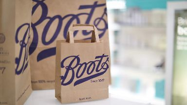 Boots UK paper bags