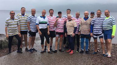 Loch Ness rowers Jock Wishart