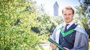 Sam Heughan, receives honorary degree from Stirling University