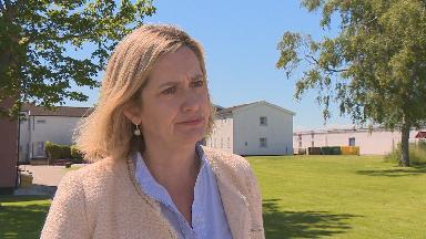 Amber Rudd speaking to STV News on June 27 2019.