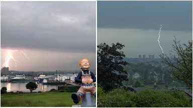 Lightning strikes in Scotland June 30 2019