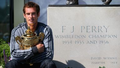 Andy Murray: Wimbledon are working on a statue.